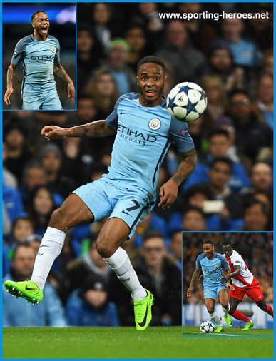 Raheem STERLING - Manchester City FC - 2016/17 Champions League. Knock out games.