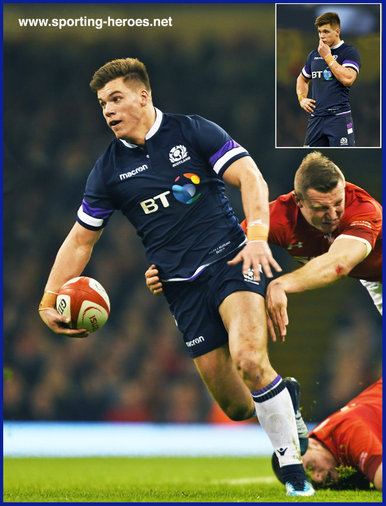 Huw JONES - Scotland - International rugby matches.