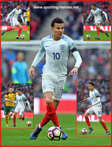Dele ALLI - England - 2018 FIFA World Cup qualifying games.