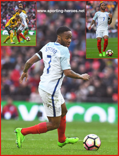 Raheem STERLING - England - 2018 FIFA World Cup qualifying games