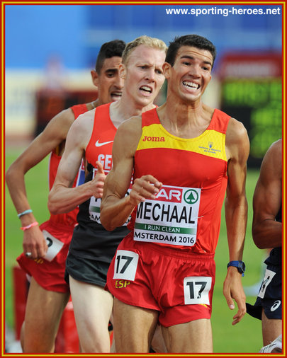 Adel MECHAAL - Spain - Silver medal in 5000m at 2016 European Championships.