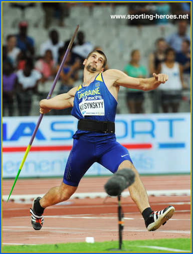 Dmytro KOSYNSKYY - Ukraine - 5th. in javelin at 2016 Olympic Games