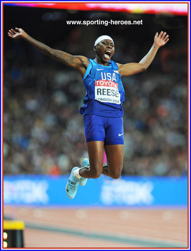 Brittney Reese - U.S.A. - Fourth World Championship long jump Gold.