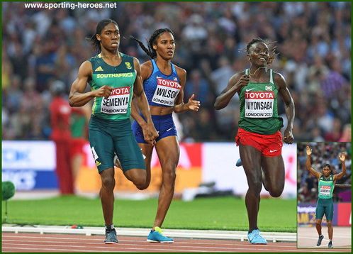 Caster Semenya - South Africa - Winner women's 800m at 2017 World Championships.