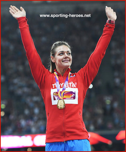 Sandra Perkovic - Croatia  - Second discus gold medal at a World Championships