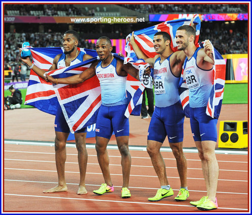 Chijindu UJAH - Great Britain - 4x100m relay Gold medal at 2017 World Championships.