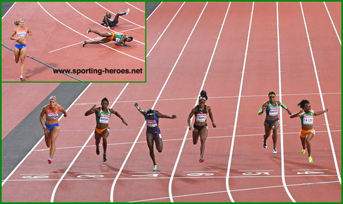 Murielle AHOURE - Ivory Coast - Fourth in 100 metres at 2017 World Championships.