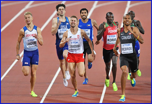 Kyle LANGFORD - Great Britain & N.I. - 4th. in 800 meters at 2017 World Championships.