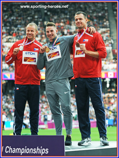 Petr FRYDRYCH - Czech Republic - Javelin bronze medal at 2017 World Championships.