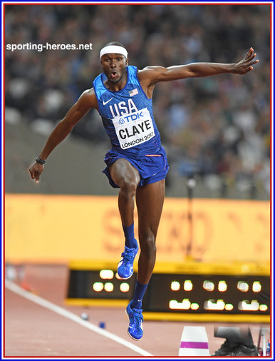 Will CLAYE - U.S.A. - Triple jump silver medal at 2017 World Championships.