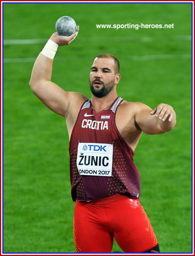 Stripe ZUNIC - Croatia  - Third in men's shot put at 2017 World Championships.