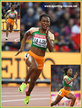 Marie-Josee TA LOU - Ivory Coast - 200m silver medal at 2017 World Championships.