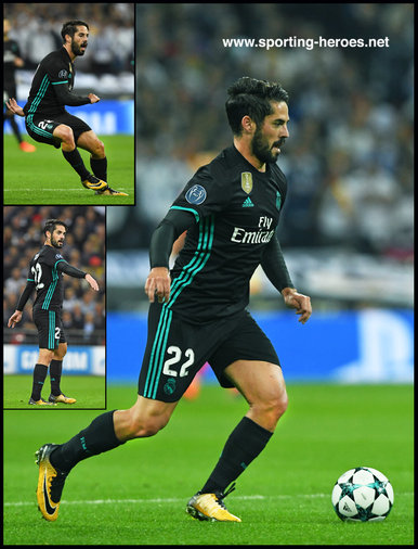 ISCO - Real Madrid - 2017/18 Champions League. Group H.