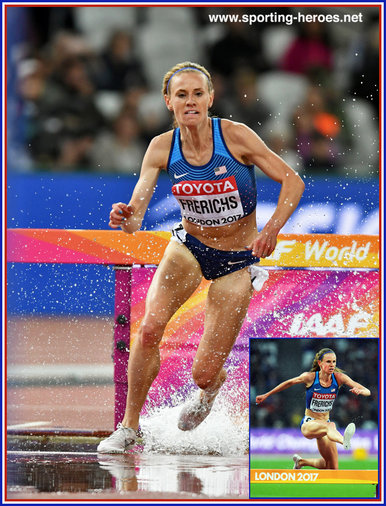 Courtney FRERICHS - U.S.A. - Silver medal at 2017 World Championships steeplechase.