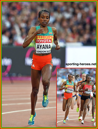 Almaz AYANA - Ethiopia - Silver medal in 5,000m at 2017 World Campionships.
