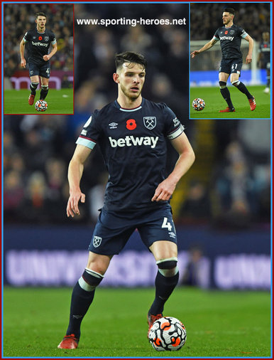 Declan RICE - West Ham United FC - Premier League Appearances