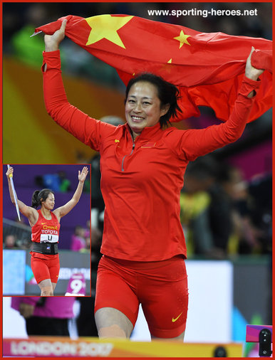 Lingweli LI - China - Javelin silver medal at 2017 World Championships.