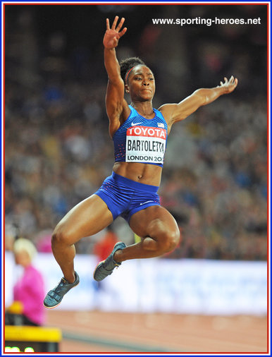Tianna BARTOLETTA - U.S.A. - 3rd at 2017 World Championships.