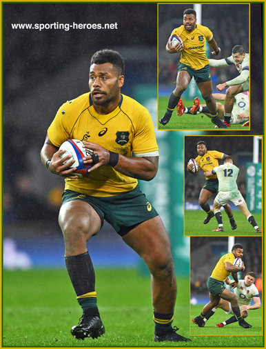 Samu KEREVI - Australia - International Rugby Union Caps.