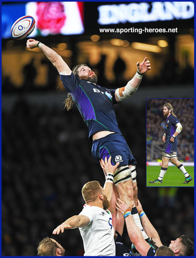 Ben TOOLIS - Scotland - International Rugby Union Caps.