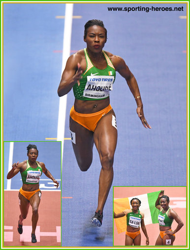 Murielle AHOURE - Ivory Coast - 2018 World Indoor 60m Champion.