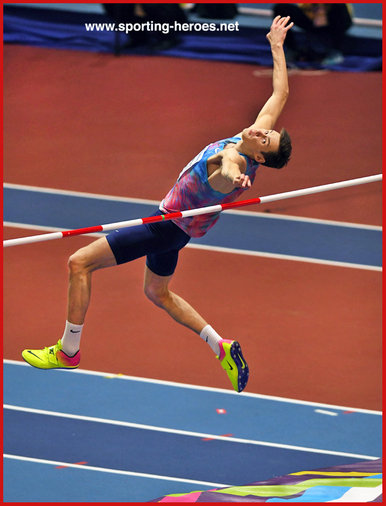 Danil LYSENKO - Russia - 2018 World Indoor high jump Champion.