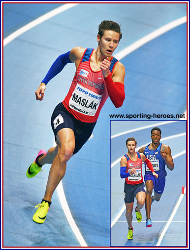 Paval MASLAK - Czech Republic - 400m Gold at 2018 World Indoor Championships.