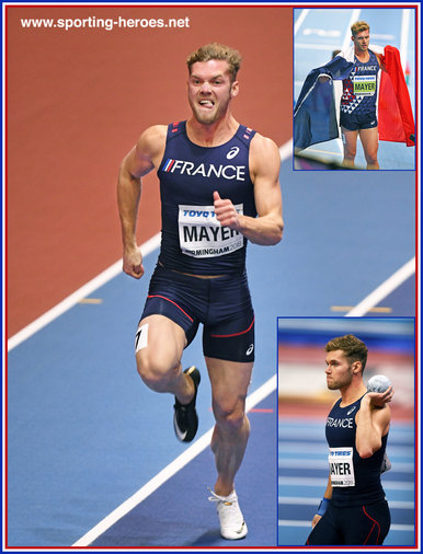 Kevin MAYER - France - 2018 World Indoor Champion.