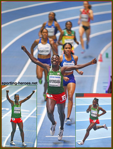 Francine NIYONSABA - Burundi - 2018 World Indoor 800m Champion.