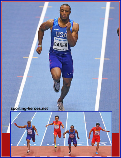 Ronnie BAKER - U.S.A. - Bronze medal in 60m at 2018 World Indoor Championships.
