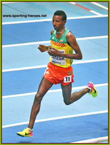 Selemon BAREGA - Ethiopia - 2nd in 3,000m at 2018 World Indoor Championships.