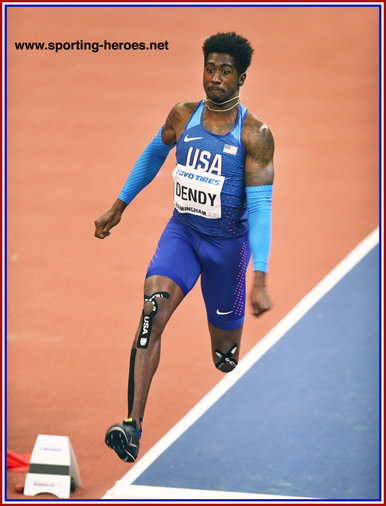 Marquis DENDY - U.S.A. - Third in 2018 World Indoor Championships.