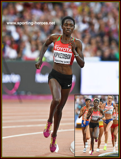 Margaret CHELIMO KIPEMBOI - Kenya - fifth at 2017 World Championships in London.