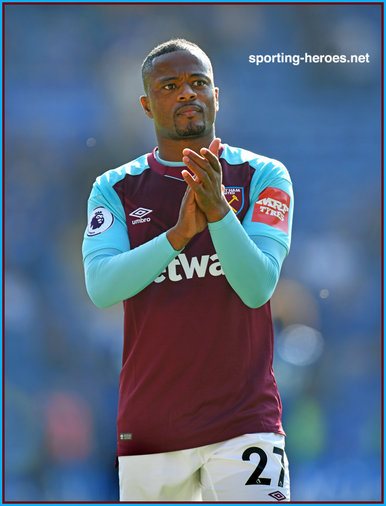 Patrice Evra - West Ham United FC - Premier League Appearances
