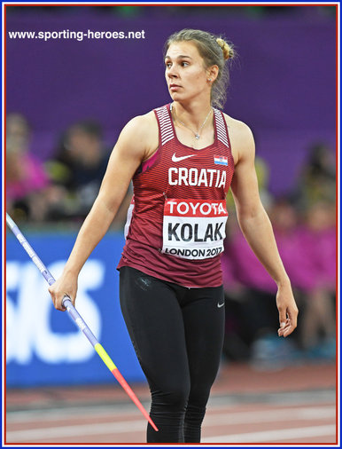 Sara KOLAK - Croatia  - 4th at 2017 World Championships in London