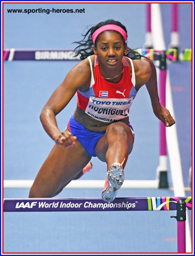 Yorgelis RODRIGUEZ - Cuba - Bronze medal at 2018 World Indoor Championships.