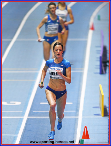 Georganne MOLINE - U.S.A. - Gold medal in 4x400m at 2018 World Indoor Championships.