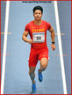 Bingtian SU - China - 2nd in 60m at 2018 World Indoor Championships.