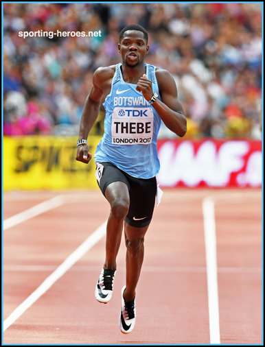 Baboloki  THEBE - Botswana - Fourth in 400m at 2017 World Championships.