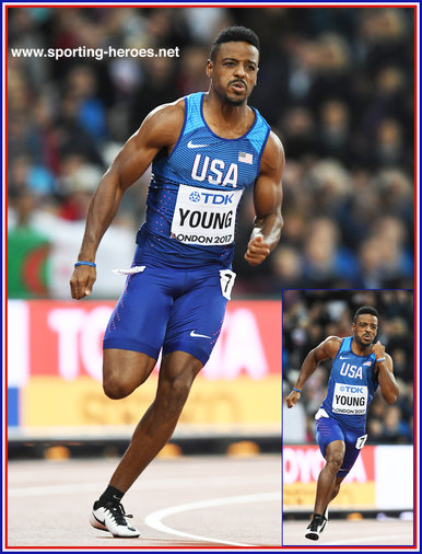 Isiah  YOUNG - U.S.A. - 8th in 200m at 2017 World Championships.