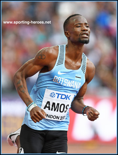Nijel AMOS - Botswana - 5th. place in 800 metres at 2017 World Championships.