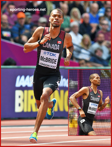 Brandon McBRIDE - Canada - 8th. in 800m at 2017 World Championships.
