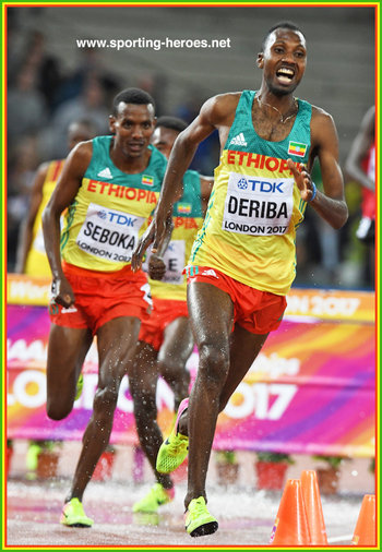 Tesfaye DERIBA - Ethiopia - 7th in steeplecahse at 2017 World Championshis