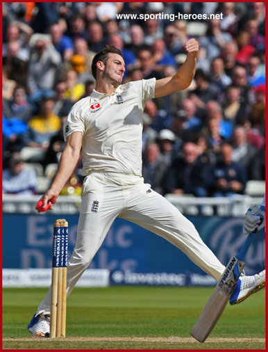 Toby ROLAND-JONES - England - Test record for England.