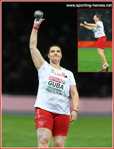 Pauline GUBA - Poland - 2018 women's European shot put champion.