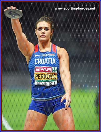 Sandra Perkovic - Croatia  - 5th. European Championships discus title for Sandra.