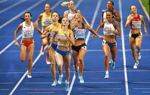 Nataliya PRYSHCHEPA - Ukraine - European 800 metres Champion again in 2018.