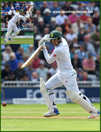 Quinton de KOCK - South Africa - 2017 four Test match series in England.