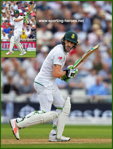 Faf du PLESSIS - South Africa - 2017 four Test match series in England.