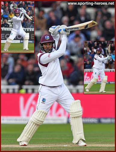 Jermaine BLACKWOOD - West Indies - 2017 Three Test series in England.